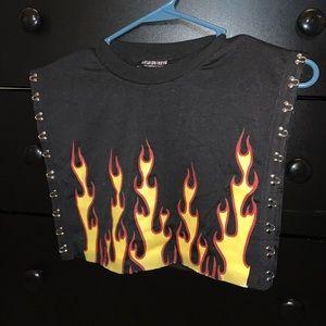 Flame Crop Top